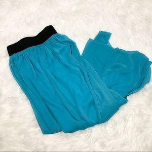 Rue 21 Turquoise A-line Maxi Skirt